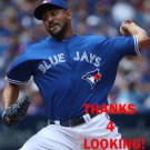 FRANKLIN MORALES 2016 TORONTO BLUE JAYS BASEBALL CARD