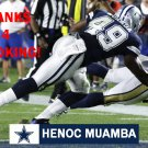HENOC MUAMBA 2016 DALLAS COWBOYS FOOTBALL CARD
