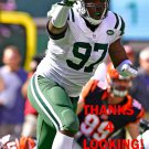 LAWRENCE THOMAS 2016 NEW YORK JETS FOOTBALL CARD