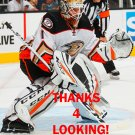 JONATHAN BERNIER 2016-17 ANAHEIM DUCKS HOCKEY CARD