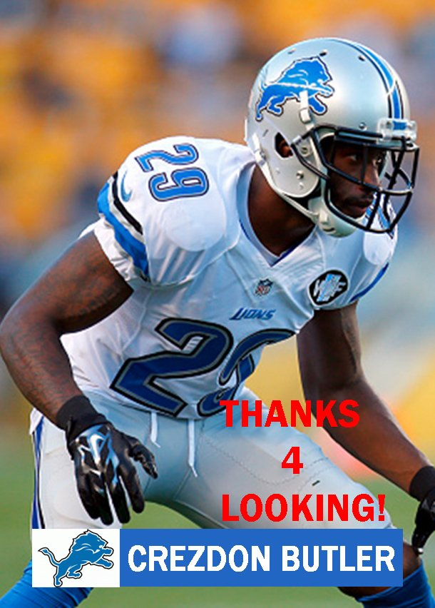 CREZDON BUTLER 2015 DETROIT LIONS FOOTBALL CARD