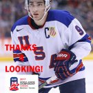 LUKE KUNIN 2017 USA WORLD JUNIOR CHAMPIONSHIPS HOCKEY CARD