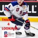 CALEB JONES 2017 USA WORLD JUNIOR CHAMPIONSHIPS HOCKEY CARD