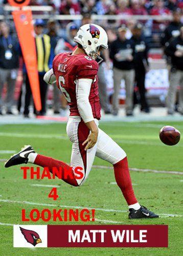 MATT WILE 2016 ARIZONA CARDINALS FOOTBALL CARD
