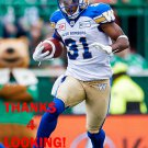 MAURICE LEGGETT 2016 WINNIPEG BLUE BOMBERS  FOOTBALL CARD
