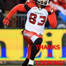 JUWAN BRESCACIN 2016 CALGARY STAMPEDERS  FOOTBALL CARD