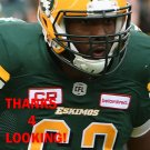 CHRIS GREAVES 2016 EDMONTON ESKIMOS CFL FOOTBALL CARD
