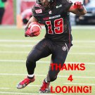 JOCK SANDERS 2015 OTTAWA REDBLACKS  CFL FOOTBALL CARD
