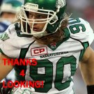 DYLAN AINSWORTH 2016 SASKATCHEWAN ROUGHRIDERS CFL FOOTBALL CARD