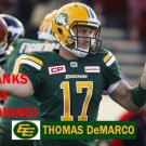 THOMAS DeMARCO 2016 EDMONTON ESKIMOS CFL FOOTBALL CARD