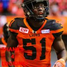 MICAH AWE 2017 BC LIONS CFL FOOTBALL CARD