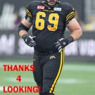 LANDON RICE 2017 HAMILTON TIGER-CATS  CFL FOOTBALL CARD