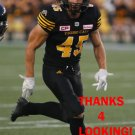 GEOFF HUGHES 2017 HAMILTON TIGER-CATS  CFL FOOTBALL CARD