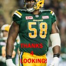 TONY WASHINGTON 2017 EDMONTON ESKIMOS CFL FOOTBALL CARD