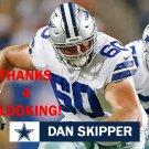 DAN SKIPPER 2017 DALLAS COWBOYS FOOTBALL CARD