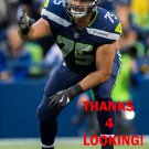 ODAY ABOUSHI 2017 SEATTLE SEAHAWKS FOOTBALL CARD
