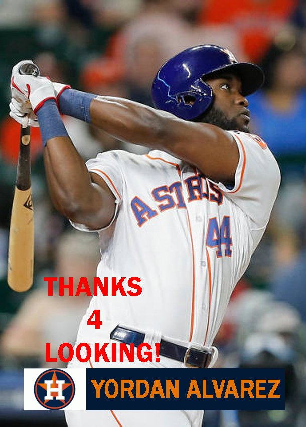 Yordan Alvarez 2019 Houston Astros Baseball Card