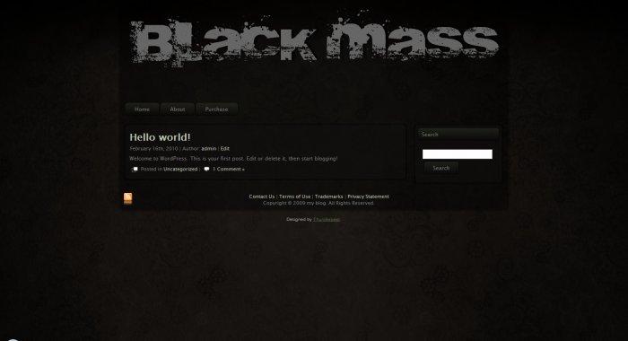 Wordpress Theme - Black Mass