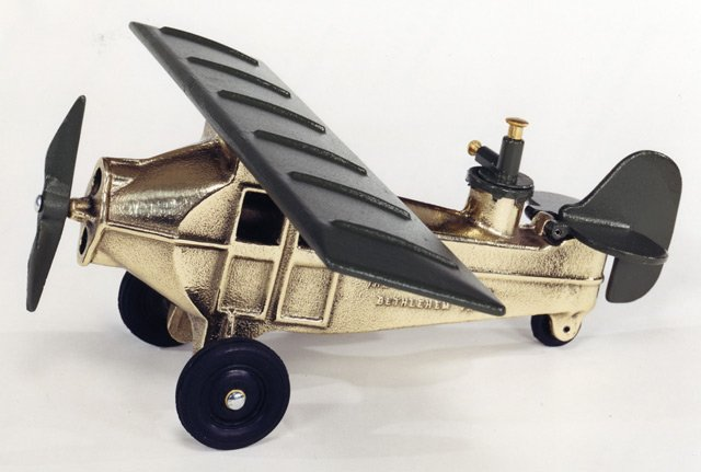 BOMBING PLANE YELLOW BRASS 11PY -  $369 - FREE SHIPPING - DISCOUNT GIFTS ONLINE