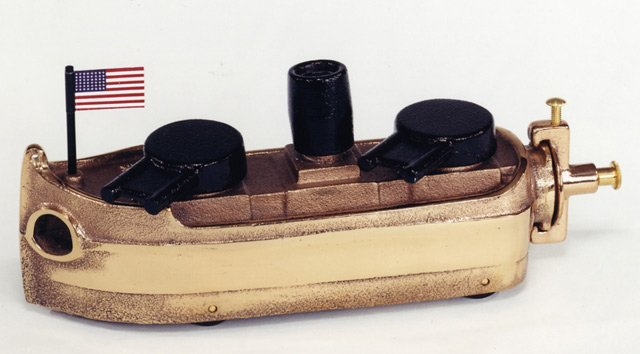 NAVY GUN BOAT RED BRASS 9BR - $219.95 - FREE SHIPPING - DISCOUNT GIFTS ONLINE