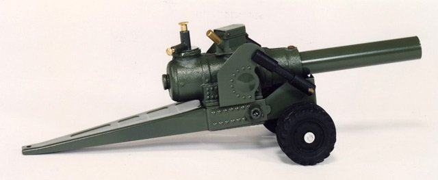 105 MM CANNON ON 4 RUBBER WHEELS 105MM - FREE SHIPPING - DISCOUNT GIFTS ONLINE