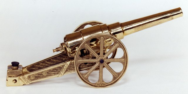 LARGE YELLOW BRASS CANNON 16FYB - DISCONTINUED - NO LONGER AVAILABLE