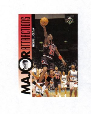 MICHAEL JORDAN 95-96 UPPER DECK MAJOR ATTRACTIONS #339