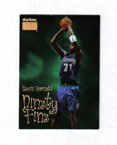 KEVIN GARNETT 98-99 SKYBOX PREMIUM NINETY FINE #218