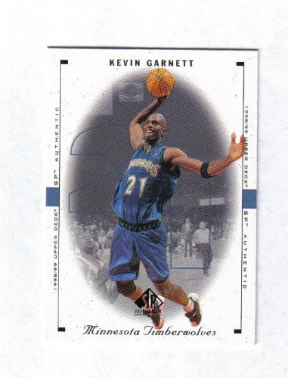 KEVIN GARNETT 98-99 SP AUTHENTIC #53