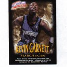 KEVIN GARNETT 97-98 FLEER MILLION DOLLAR MOMENTS #8