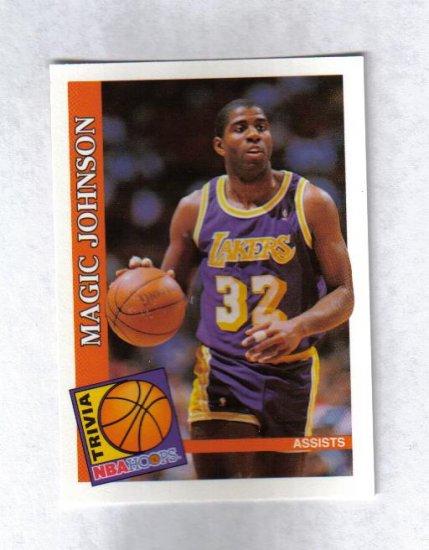 MAGIC JOHNSON 92-93 HOOPS TRIVIA #482