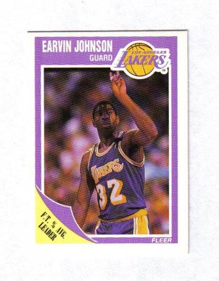 MAGIC JOHNSON 89-90 FLEER #77