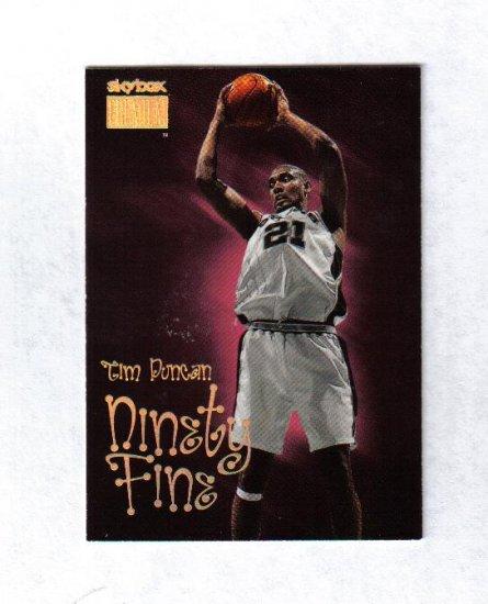 TIM DUNCAN 98-99 SKYBOX PREMIUM NINETY FINE #206