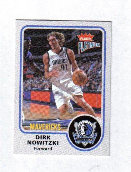 DIRK NOWITZKI 02-03 FLEER PLATINUM #79