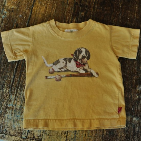 Wes & Willy - Gold Baseball Dog Tee