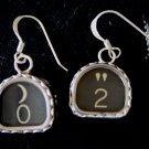 Style TKE Vintage Typewriter Key Earrings