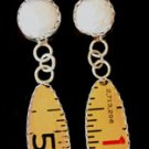 Style RU5 Fresh Water Pear and Ruler Earrings