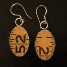 Style RU1 Carpenter's Ruler earrings