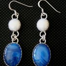 Style EB7 Bowling Ball Earrings with Pearls