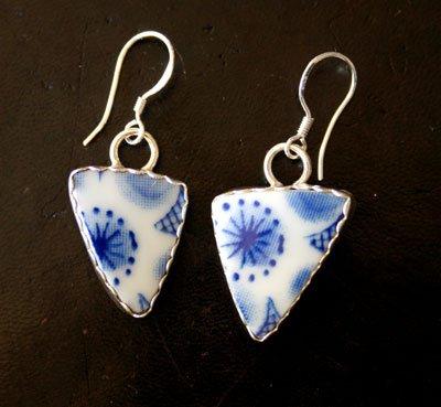 Style EP2  Vintage Japanese Rice Bowl Earrings