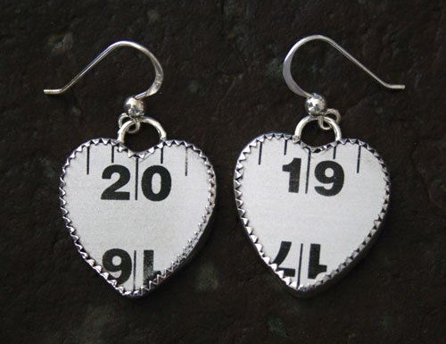 Style RUHM, Carpenters Aluminum Ruler  Earrings