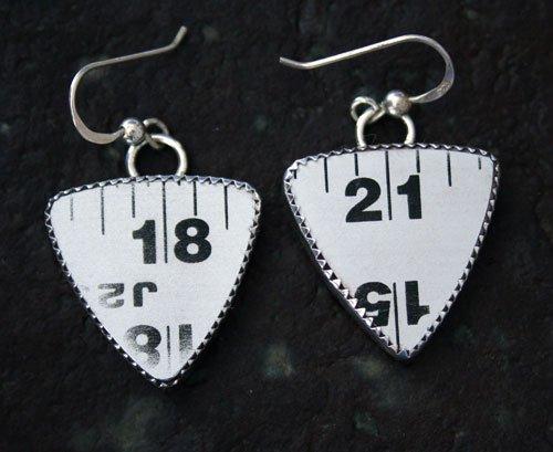 Style RUTM, Carpenters Aluminum Ruler Earrings