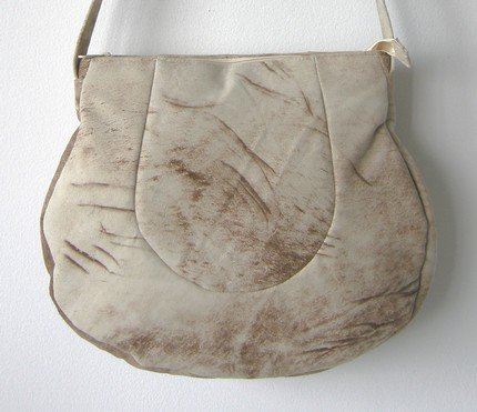sandy suede circle bag