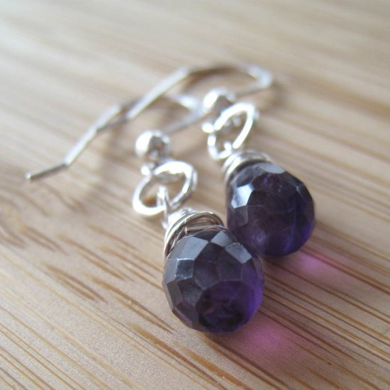 Amethyst Earrings - Purple Haze