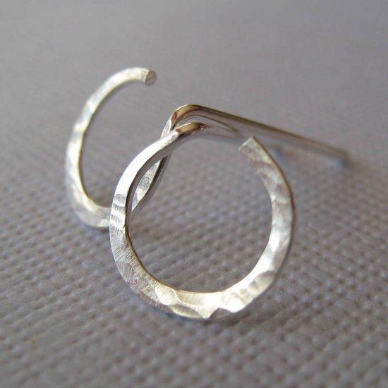 Sterling Silver Stud Earrings - Open Circle