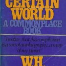 A CERTAIN WORLD A COMMON PLACE BOOK Auden