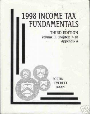1998 INCOME TAX FUNDAMENTALS third edition volume 11