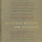 EFFECTIVE WRITING FOR BUSINESS