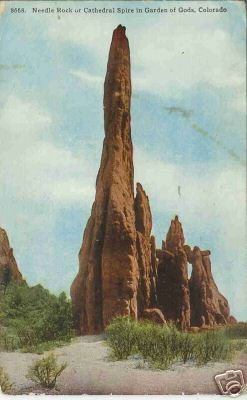 NEEDLE ROCK 8668 OR CATHEDRAL SPIRE IN GARDEN OF GOD. C