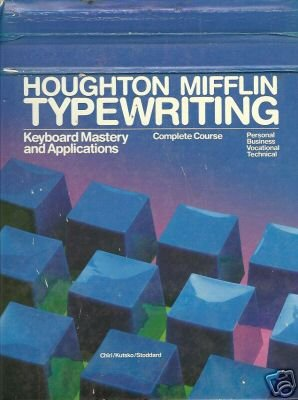 HOUGHTON MIFFLIN TYPEWRITING keyboard mastery and appli
